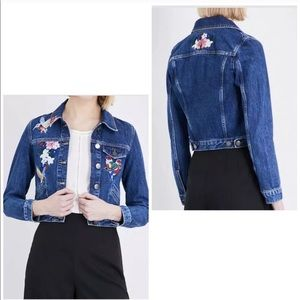 Maje embroidered denim jacket, size 36.